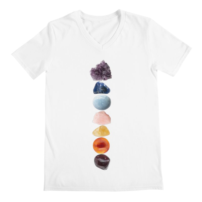Chakra Balance Men's Regular V-Neck by Crystalline Light
