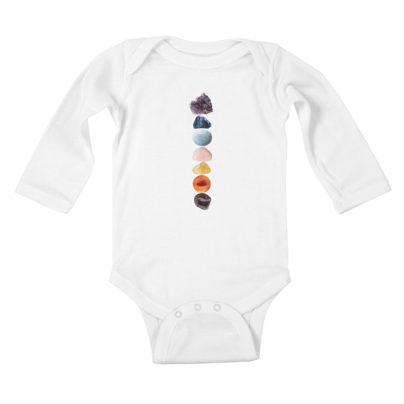 Chakra Balance Kids Baby Longsleeve Bodysuit by Crystalline Light