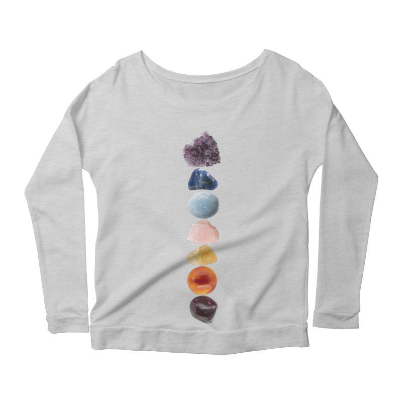 Chakra Balance Women's Scoop Neck Longsleeve T-Shirt by Crystalline Light