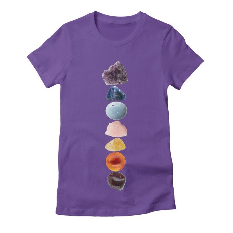 Chakra Balance Women's Fitted T-Shirt by Crystalline Light