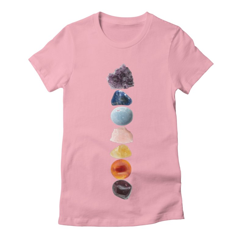 Chakra Balance Women's Fitted T-Shirt by Crystalline Light