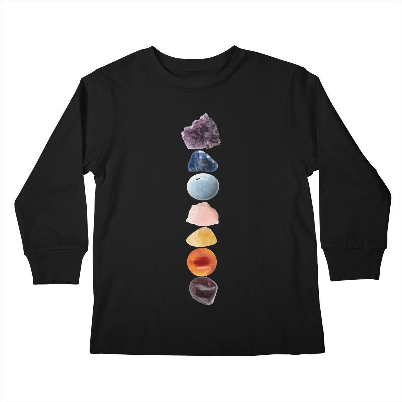 Chakra Balance Kids Longsleeve T-Shirt by Crystalline Light