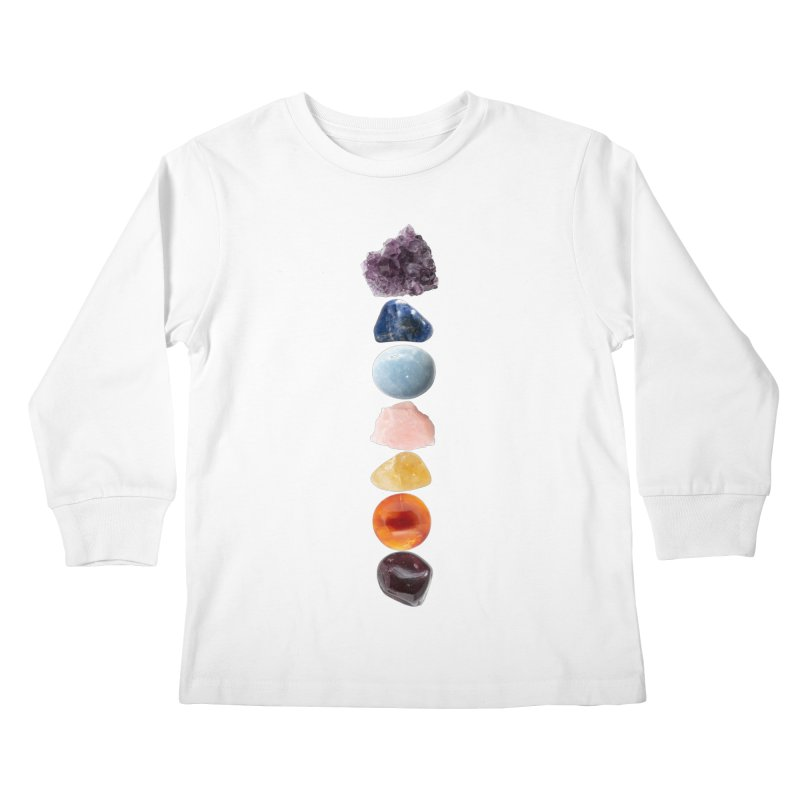 Chakra Balance Kids Longsleeve T-Shirt by Crystalline Light