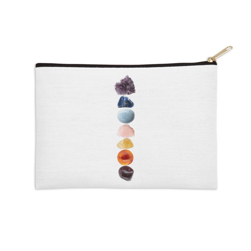 Chakra Balance Accessories Zip Pouch by Crystalline Light