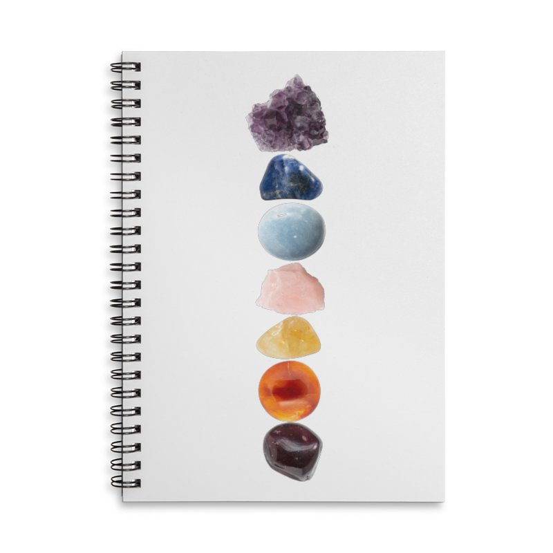 Chakra Balance Accessories Lined Spiral Notebook by Crystalline Light
