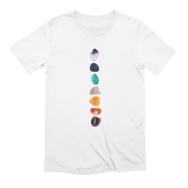 Chakra Balance in Men's Extra Soft T-Shirt White by Crystalline Light