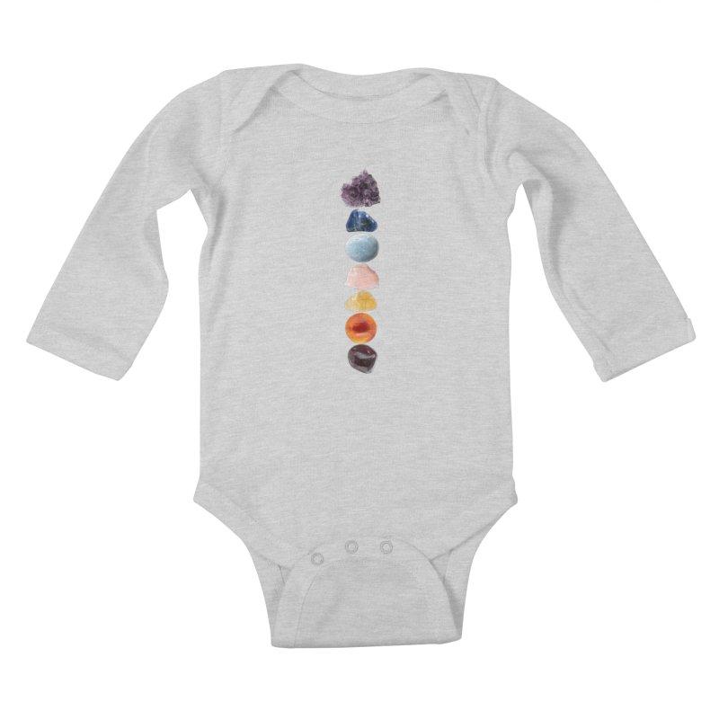 Chakra Balance Kids Baby Longsleeve Bodysuit by Crystalline Light