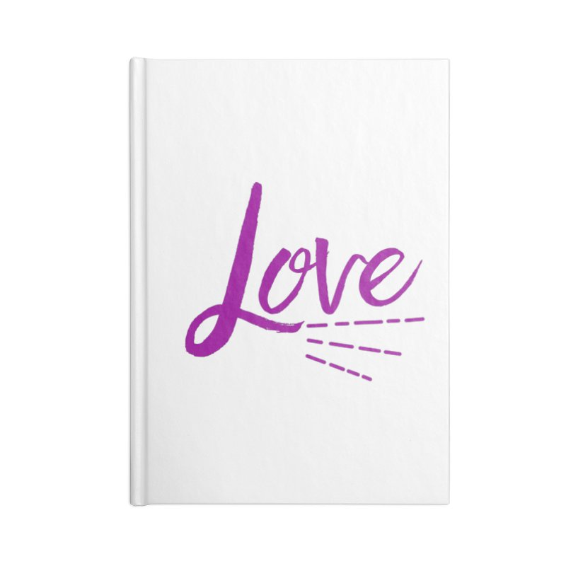 Love Accessories Blank Journal Notebook by Crystalline Light