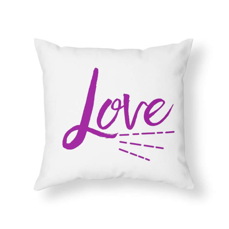 Love Home Throw Pillow by Crystalline Light