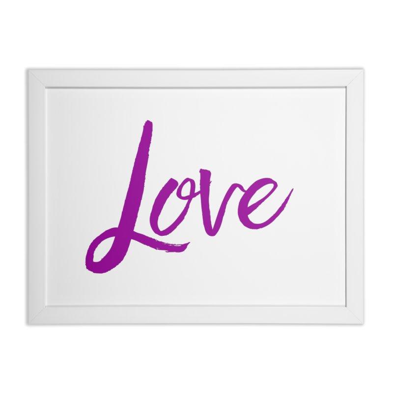 Love Home Framed Fine Art Print by Crystalline Light
