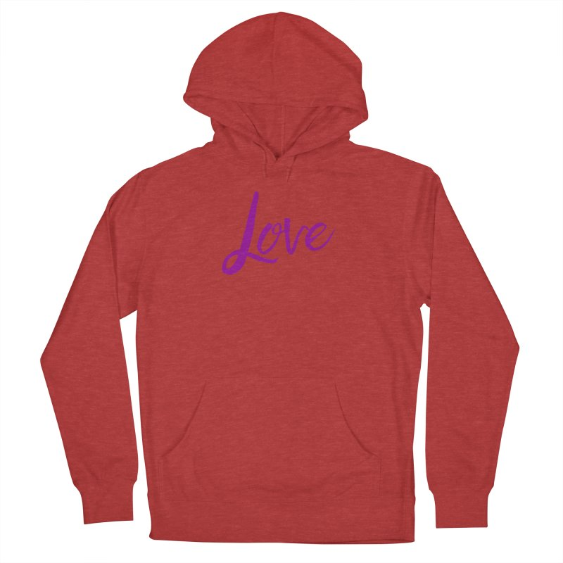 Love Men's French Terry Pullover Hoody by Crystalline Light