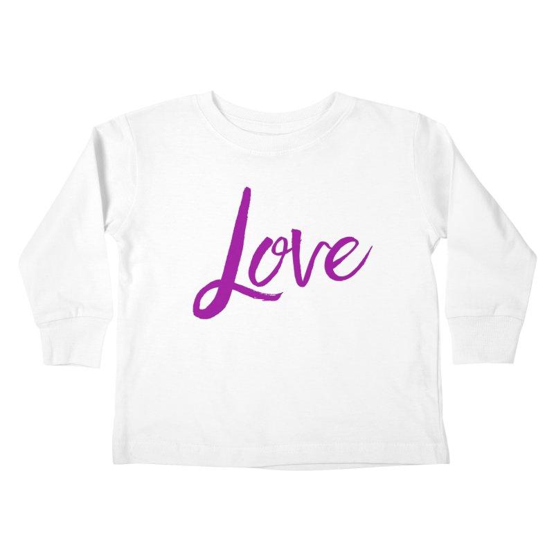 Love Kids Toddler Longsleeve T-Shirt by Crystalline Light