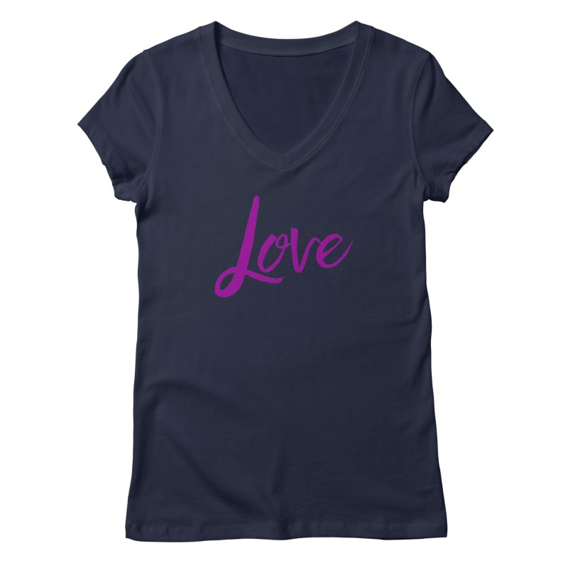 Love Women's Regular V-Neck by Crystalline Light