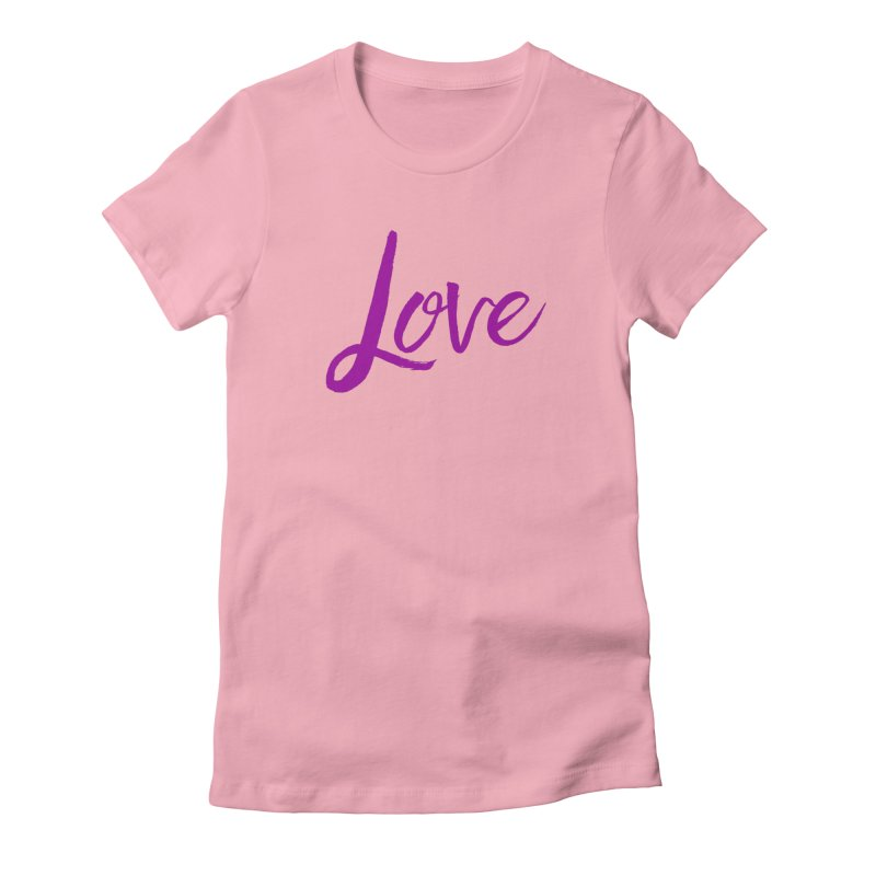 Love Women's Fitted T-Shirt by Crystalline Light
