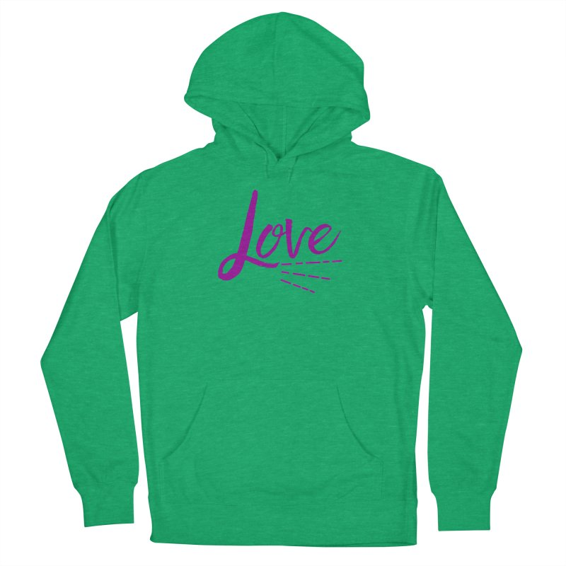 Love Women's French Terry Pullover Hoody by Crystalline Light