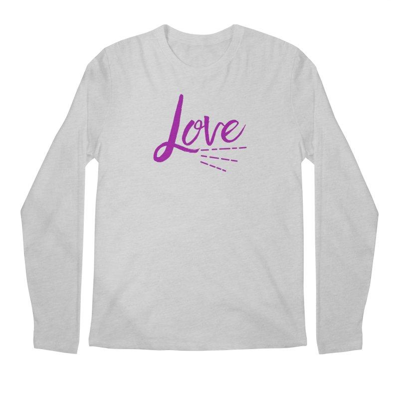 Love Men's Regular Longsleeve T-Shirt by Crystalline Light