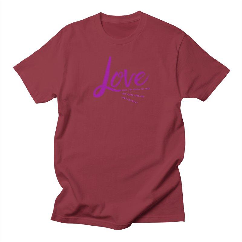 Love Men's Regular T-Shirt by Crystalline Light