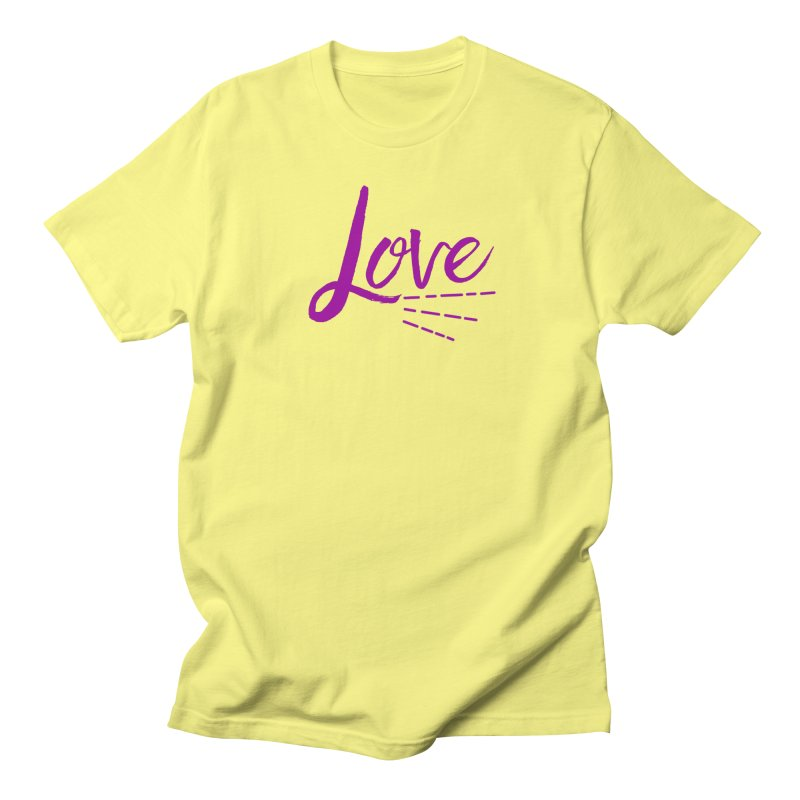 Love Men's Regular T-Shirt by Crystalline Light