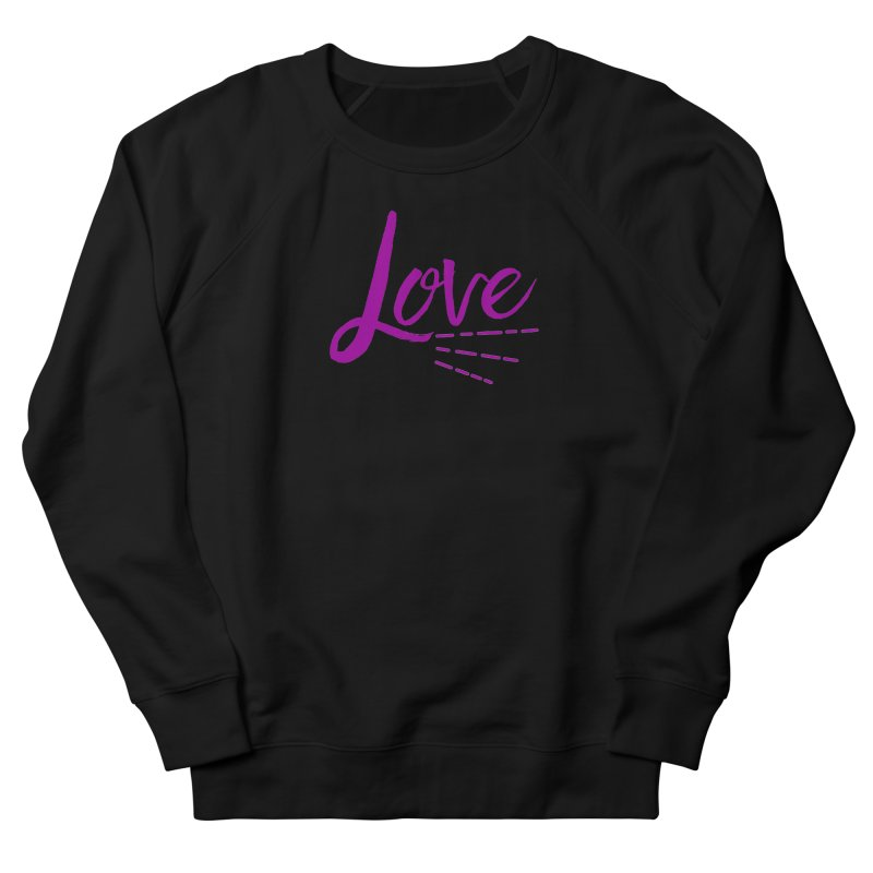 Love Men's French Terry Sweatshirt by Crystalline Light