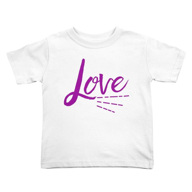 Love Kids Toddler T-Shirt by Crystalline Light