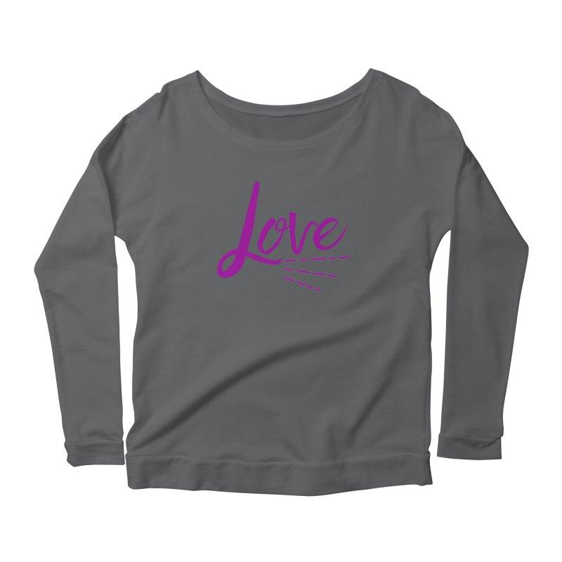 Love Women's Scoop Neck Longsleeve T-Shirt by Crystalline Light