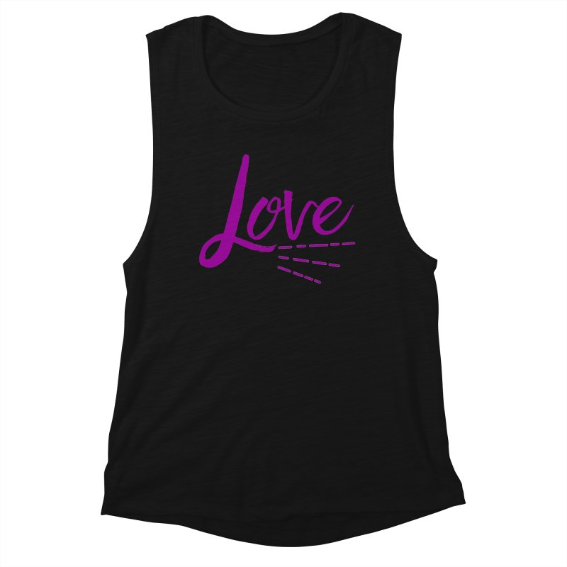 Love Women's Muscle Tank by Crystalline Light