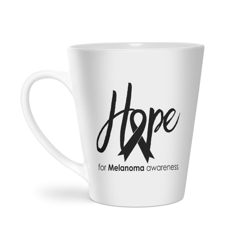 Hope - For Melanoma Awareness Accessories Latte Mug by Crystalline Light