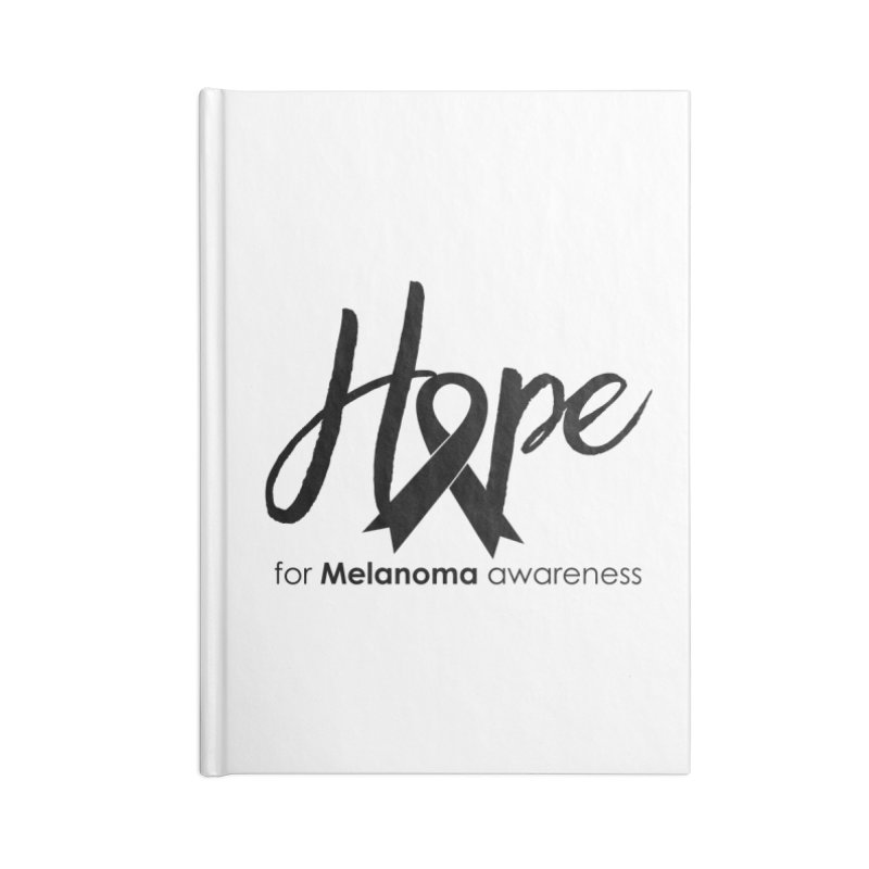 Hope - For Melanoma Awareness Accessories Lined Journal Notebook by Crystalline Light