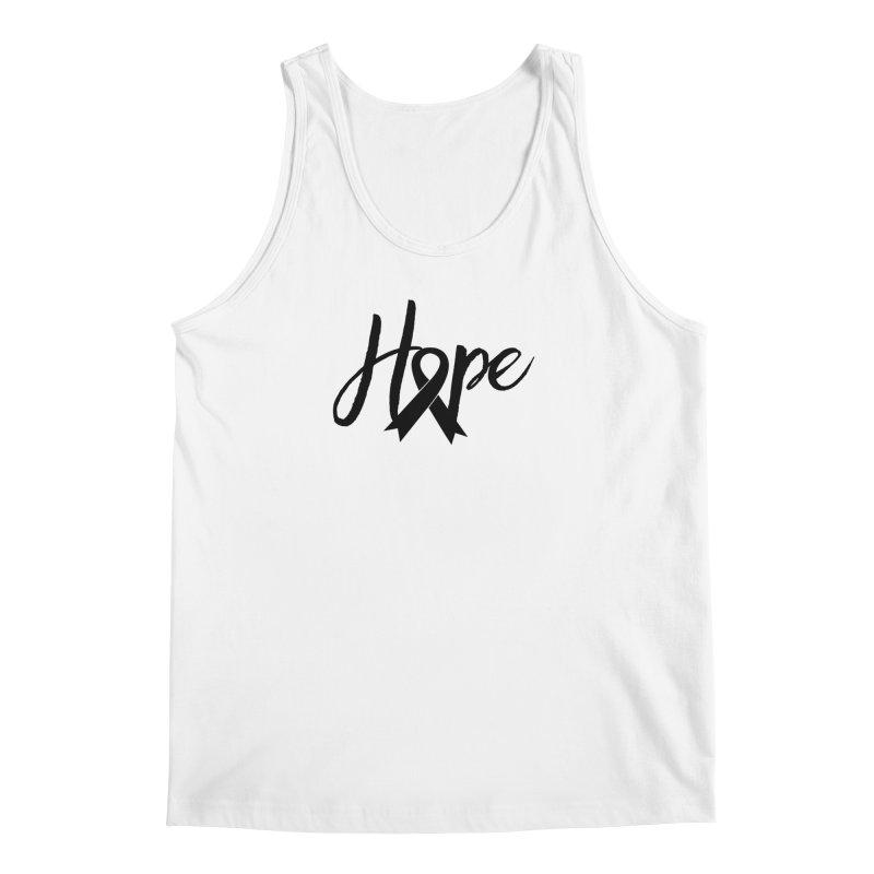 Hope - For Melanoma Awareness Men's Regular Tank by Crystalline Light