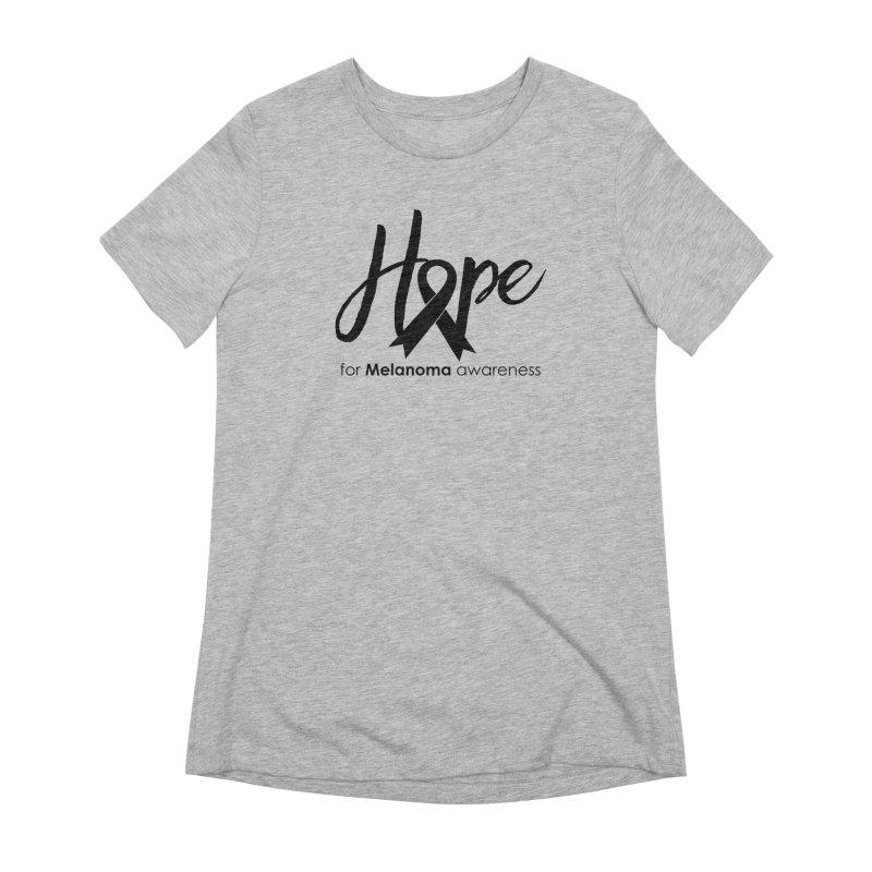 Hope - For Melanoma Awareness Women's Extra Soft T-Shirt by Crystalline Light