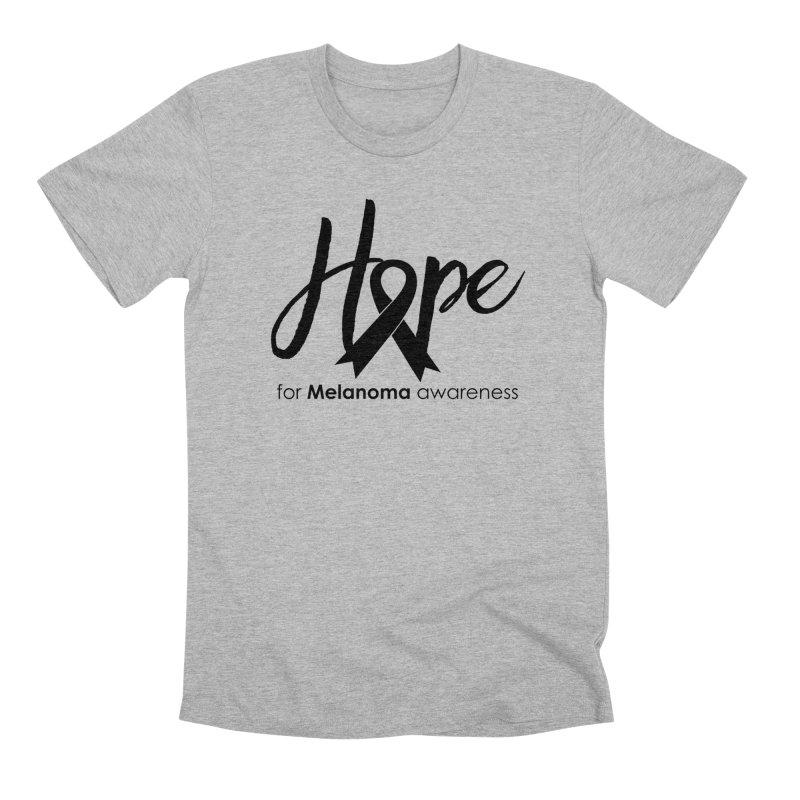 Hope - For Melanoma Awareness Men's Premium T-Shirt by Crystalline Light