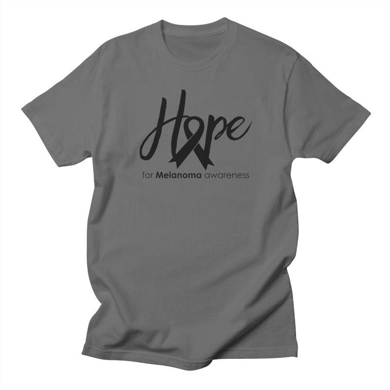 Hope - For Melanoma Awareness Men's T-Shirt by Crystalline Light