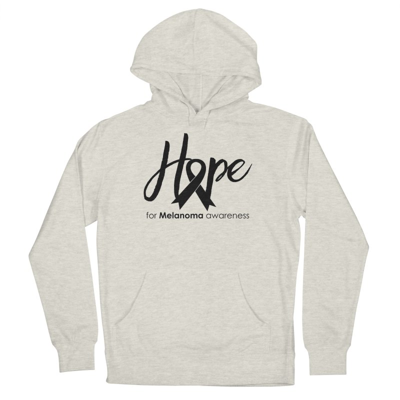 Hope - For Melanoma Awareness Women's French Terry Pullover Hoody by Crystalline Light