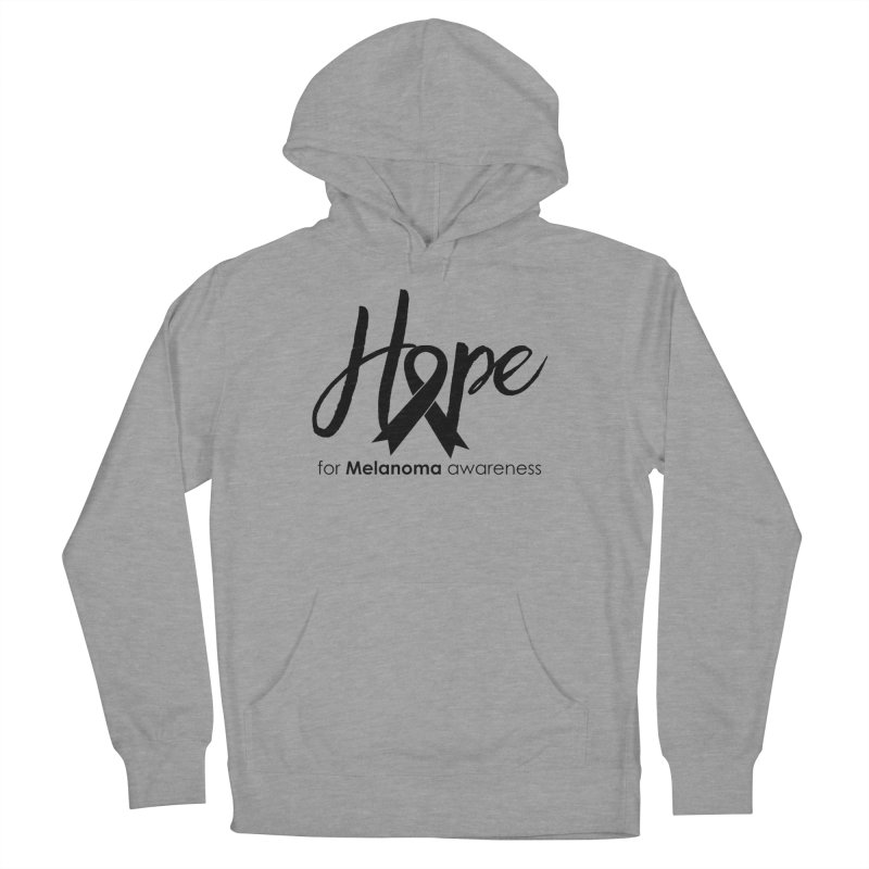 Hope - For Melanoma Awareness Men's French Terry Pullover Hoody by Crystalline Light