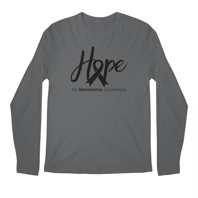 Hope - For Melanoma Awareness Men's Regular Longsleeve T-Shirt by Crystalline Light