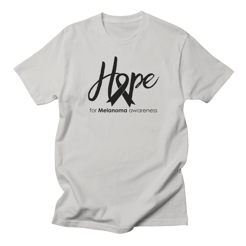 Hope - For Melanoma Awareness Men's Regular T-Shirt by Crystalline Light