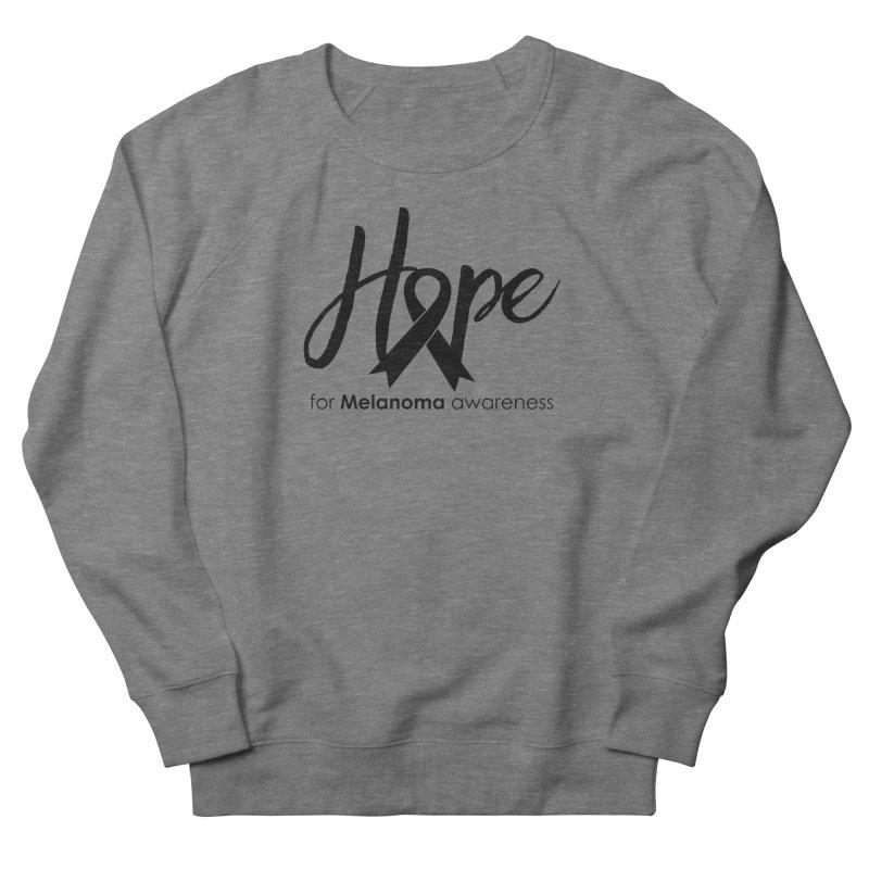 Hope - For Melanoma Awareness Men's French Terry Sweatshirt by Crystalline Light