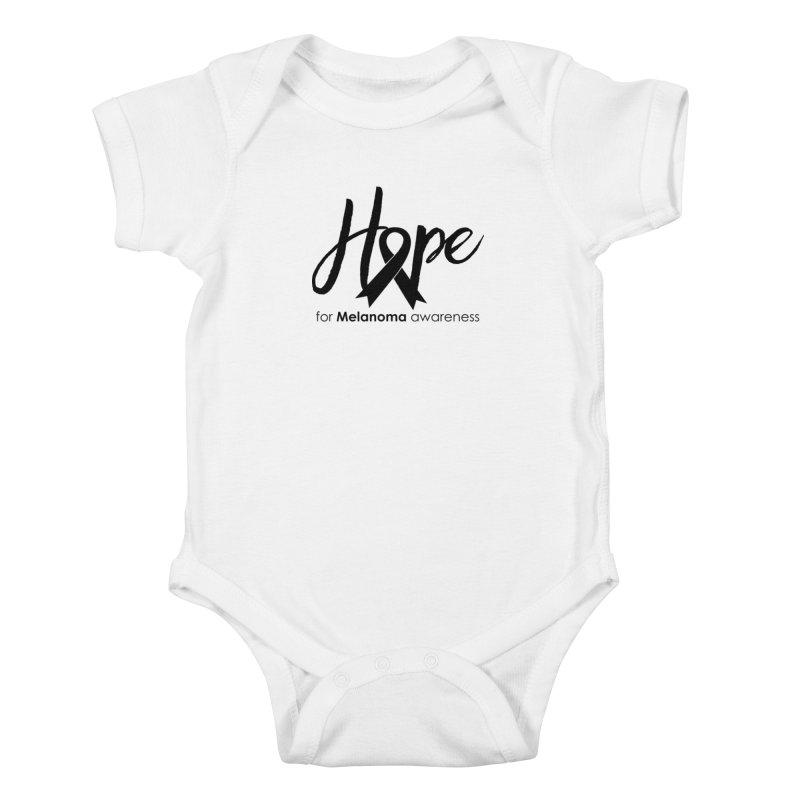 Hope - For Melanoma Awareness Kids Baby Bodysuit by Crystalline Light