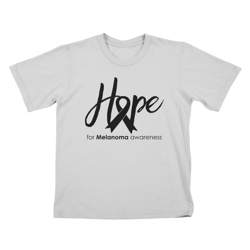 Hope - For Melanoma Awareness Kids T-Shirt by Crystalline Light