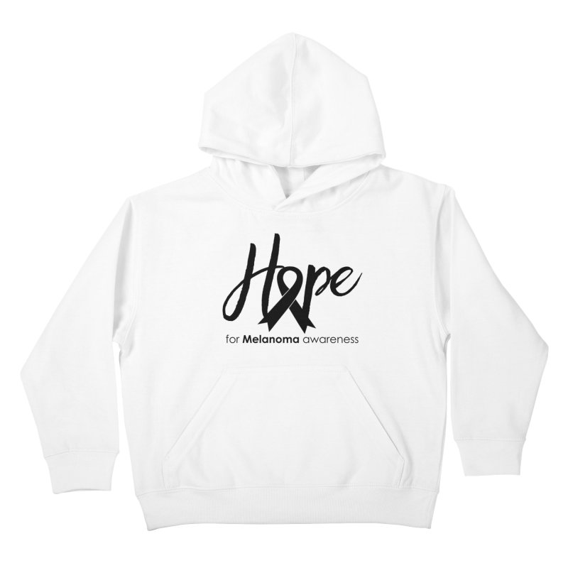 Hope - For Melanoma Awareness Kids Pullover Hoody by Crystalline Light