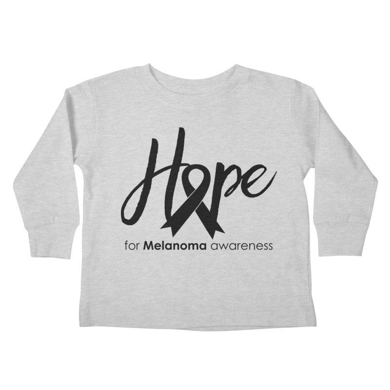 Hope - For Melanoma Awareness Kids Toddler Longsleeve T-Shirt by Crystalline Light