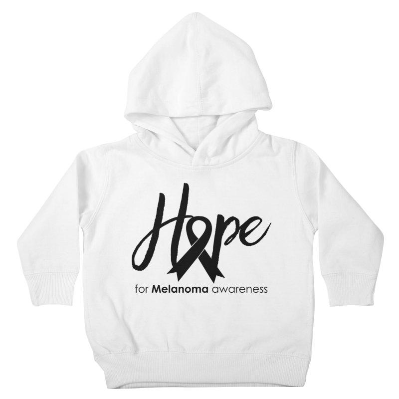 Hope - For Melanoma Awareness Kids Toddler Pullover Hoody by Crystalline Light