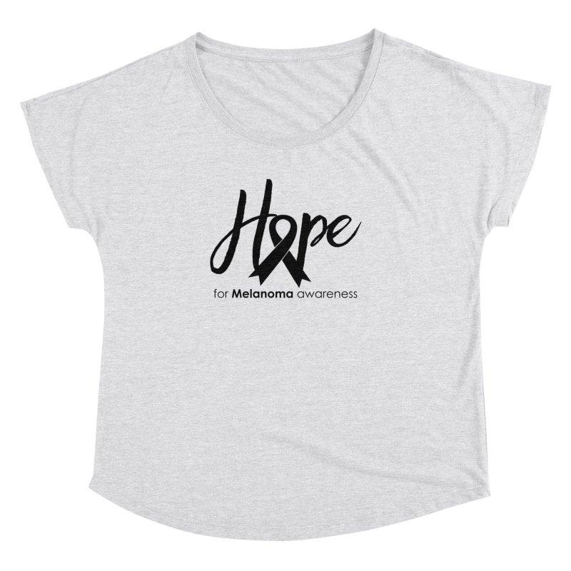 Hope - For Melanoma Awareness Women's Dolman Scoop Neck by Crystalline Light