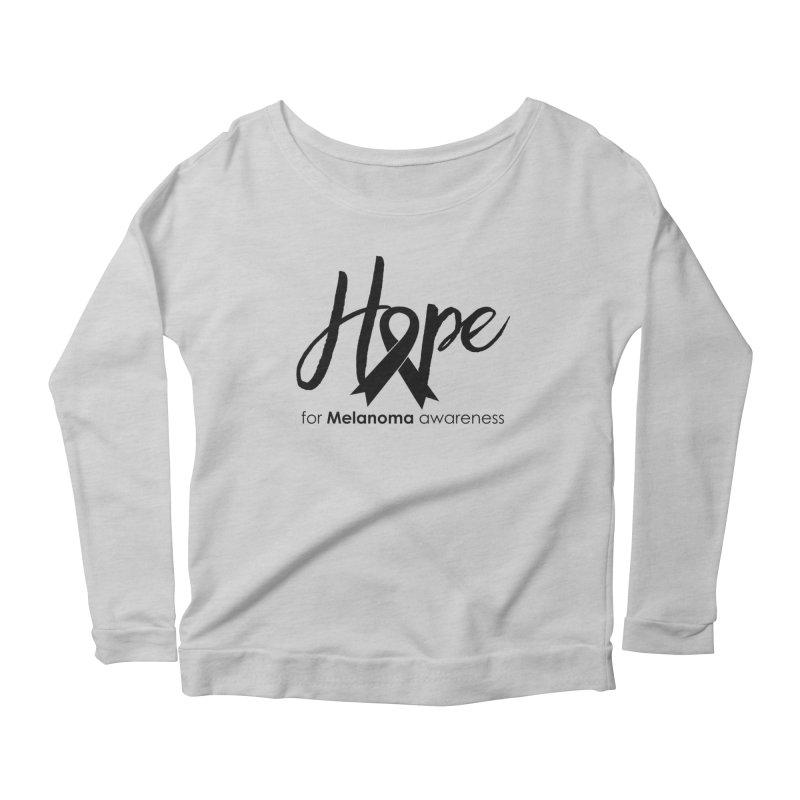 Hope - For Melanoma Awareness Women's Scoop Neck Longsleeve T-Shirt by Crystalline Light