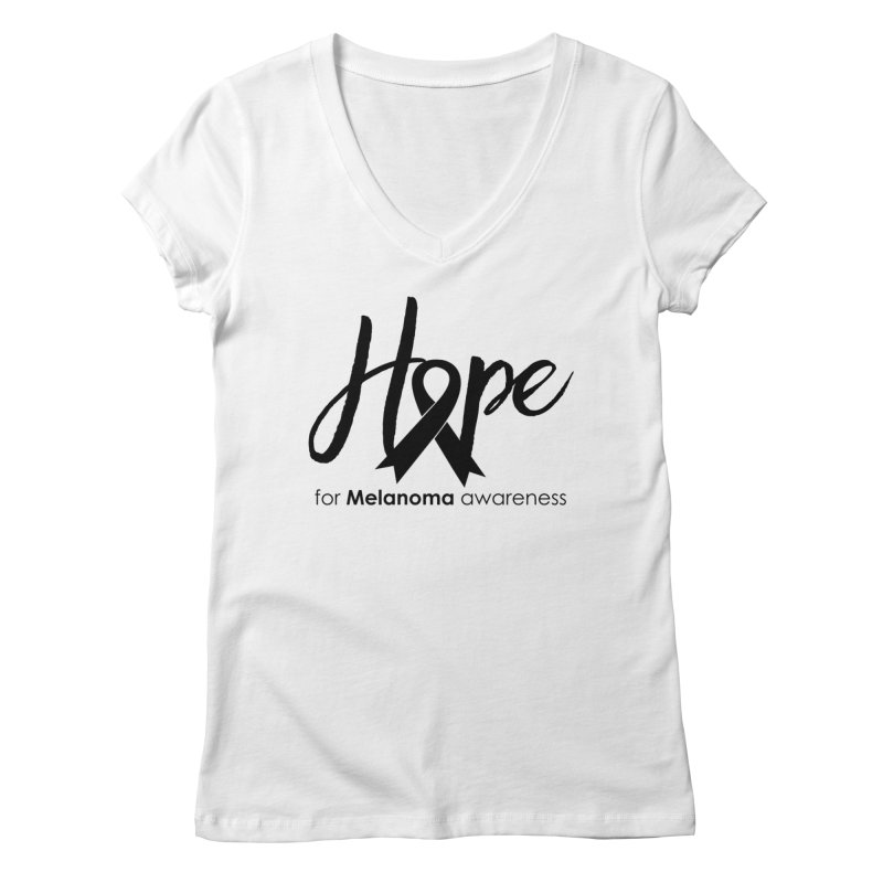 Hope - For Melanoma Awareness Women's Regular V-Neck by Crystalline Light