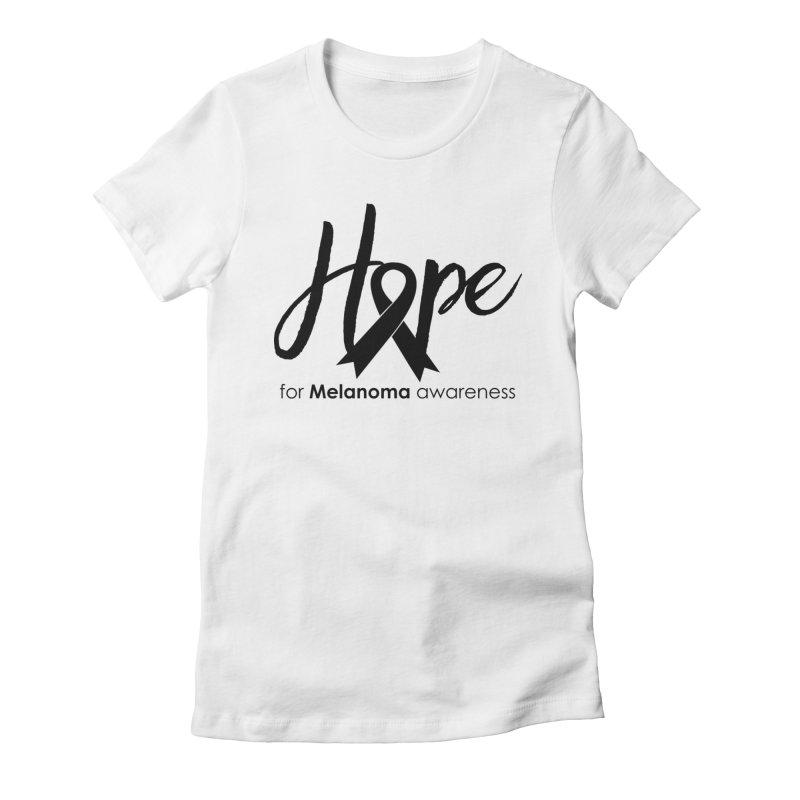 Hope - For Melanoma Awareness Women's Fitted T-Shirt by Crystalline Light