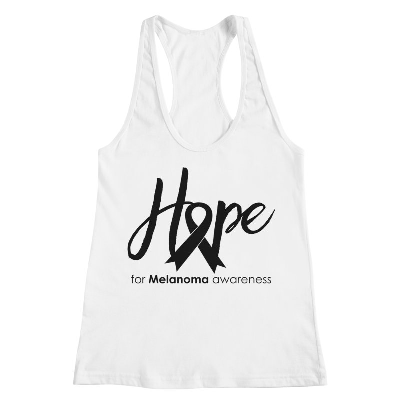 Hope - For Melanoma Awareness Women's Racerback Tank by Crystalline Light