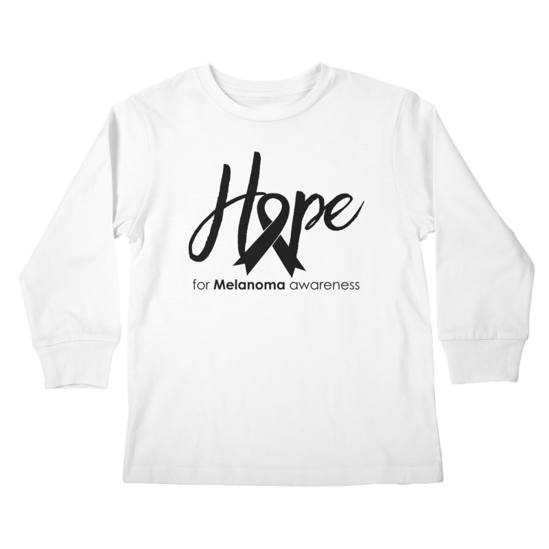 Hope - For Melanoma Awareness Kids Longsleeve T-Shirt by Crystalline Light