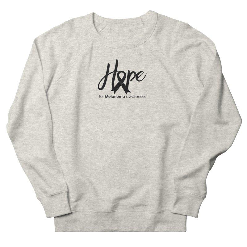 Hope - For Melanoma Awareness Women's Sweatshirt by Crystalline Light
