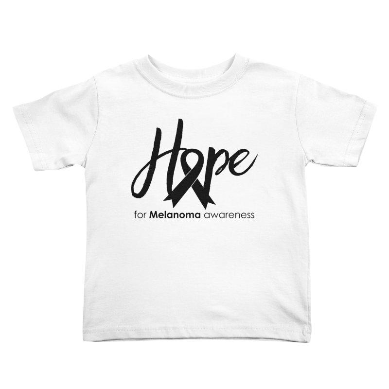 Hope - For Melanoma Awareness Kids Toddler T-Shirt by Crystalline Light